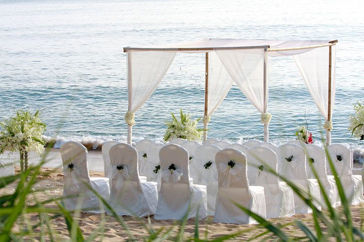 Decoración de bodas de playa