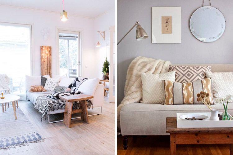 Ideas para decorar con sofás sin brazos