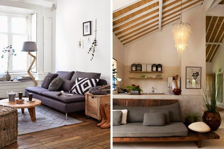 Ideas para decorar con sofás sin brazos