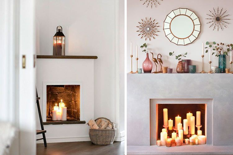 Ideas para decorar chimeneas en desuso