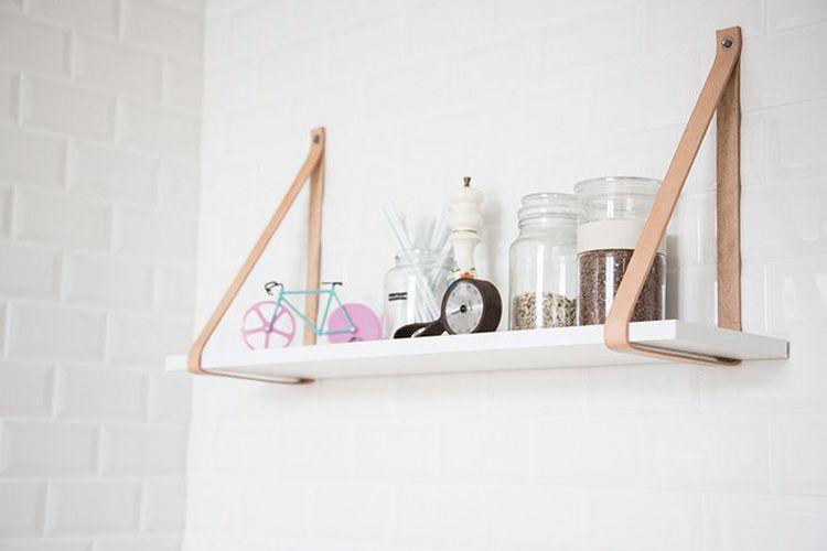 Ideas para decorar con estanterías colgantes