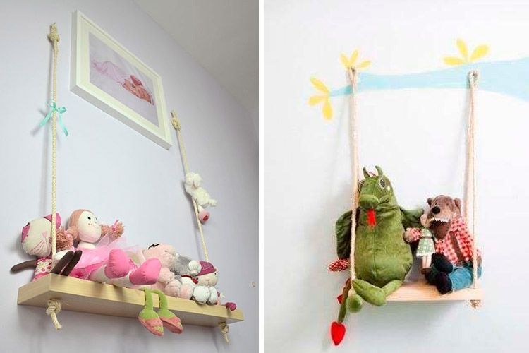 Ideas para decorar con estanter as colgantes - Estanteria pared infantil ...