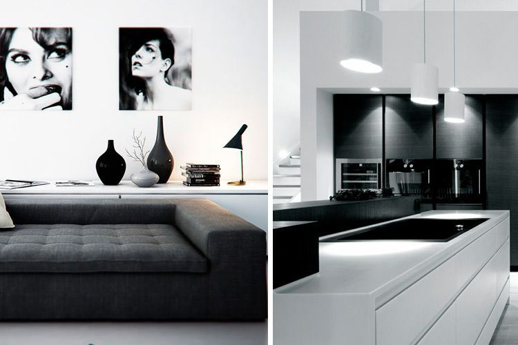 Todas las claves para decorar en blanco y negro for Casa minimalista interior blanco