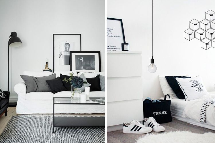 Todas las claves para decorar en blanco y negro - Decoracion en blanco ...