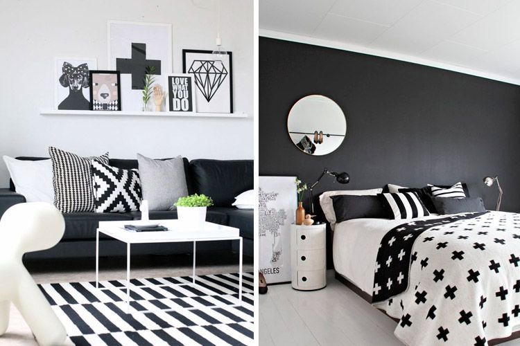 todas las claves para decorar en blanco y negro On decoracion de casas blanco y negro