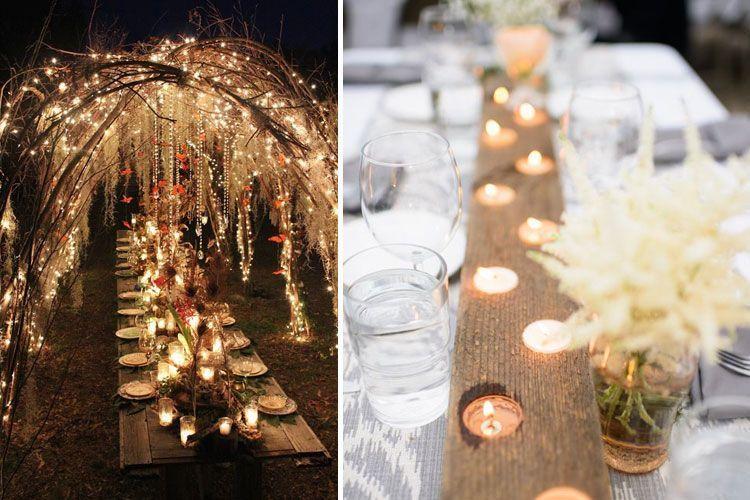 Iluminación para bodas de interior