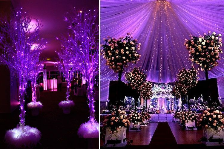 7 espectaculares ideas de iluminaci n para bodas de interior - Ideas iluminacion salon ...
