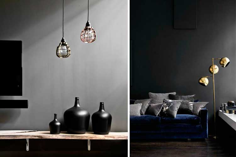 Ideas para decorar en colores oscuros
