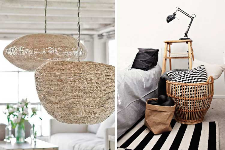 Tendencias decoración 2017 - materiales naturales