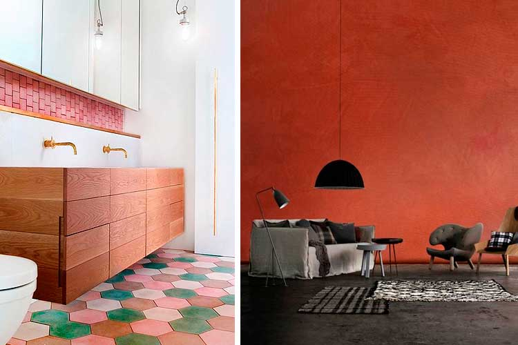 Tendencias decoración 2017 - terracota
