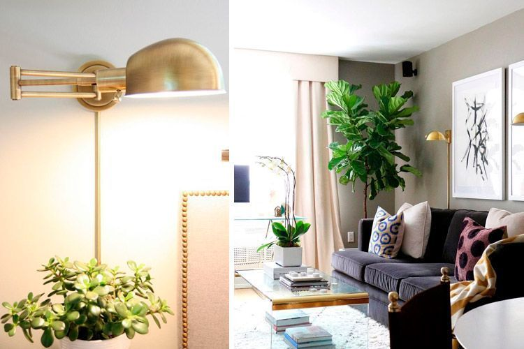 Iluminación con apliques de pared de estilo industrial