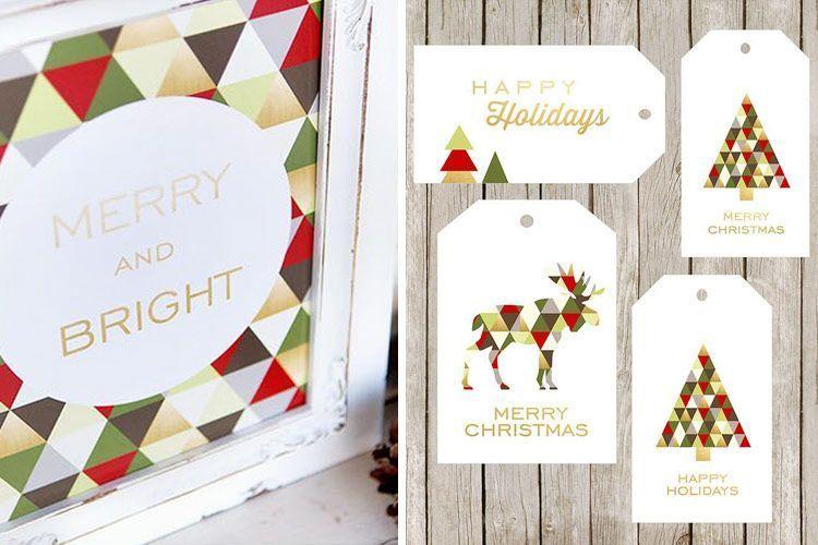 El diseño gráfico en la decoracion de Navidad