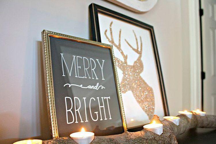 Diseño grafico para una decoracion navideña