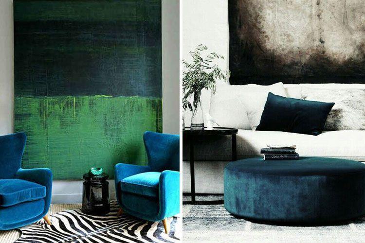Decoración de salones en dos colores