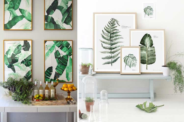 estampados tropicales para decorar tu hogar