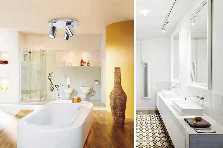 Banyo aydınlatması - yüzey spotları