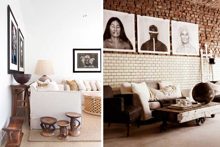 Ideas para decorar la pared con fotografía tribal