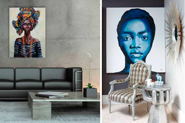 La fotografía tribal en la decoración de paredes