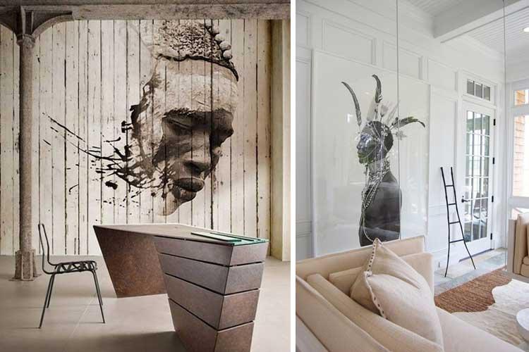 Cómo decorar las paredes con fotografía tribal