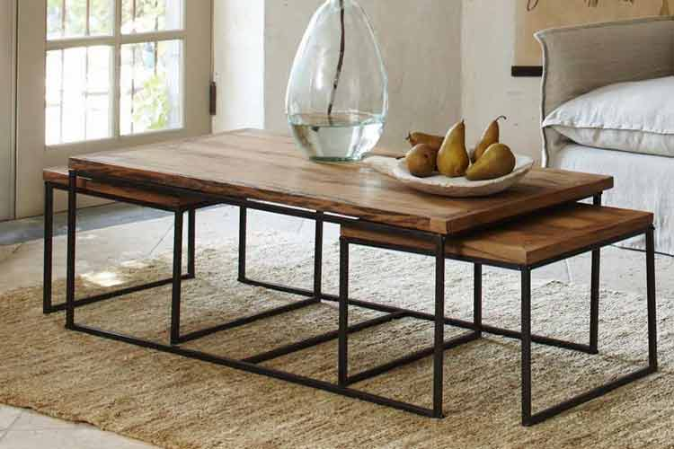 Las mesas nido en la decoración del hogar