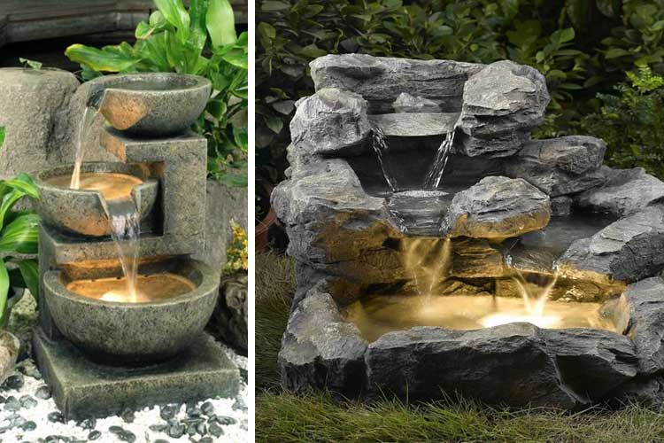 Fuentes para jardin caseras beautiful cascada artificial for Cascada casera para jardin