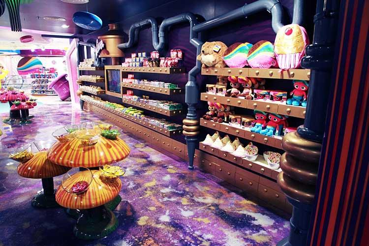 Locales de diseño: tienda de caramelos