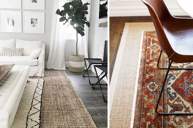 Detalle de alfombras superpuestas