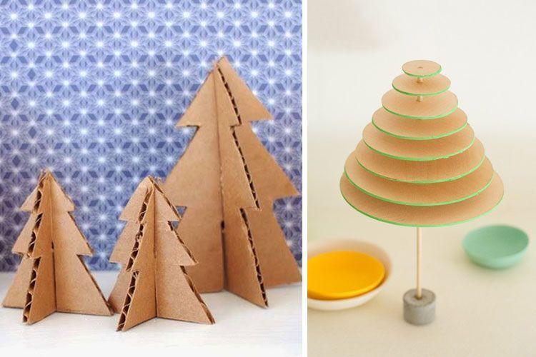 Mini árboles de cartón