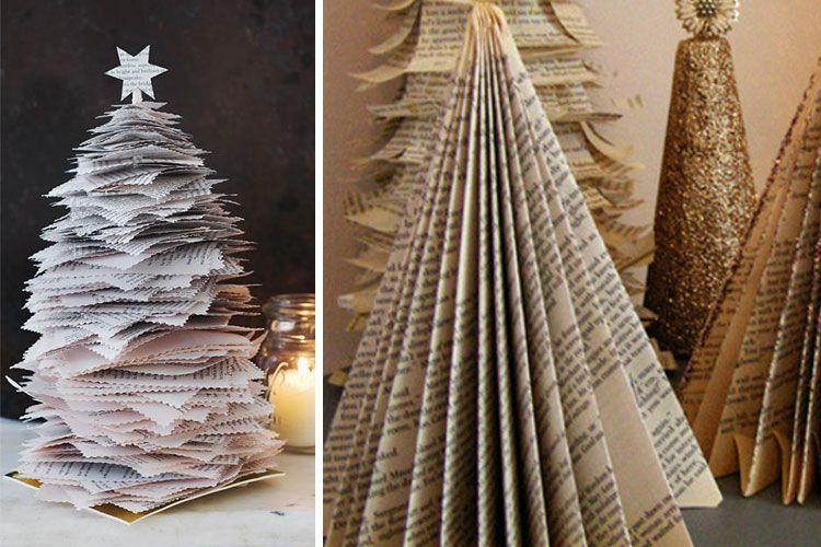 Mini árboles de papel