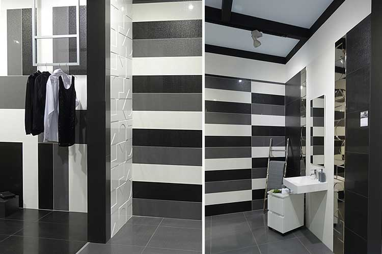 Tendencias en decoraci n 2018 el color negro aplicado a - Tendencias azulejos bano ...
