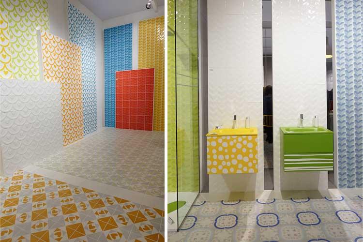 Azulejos para baño en color
