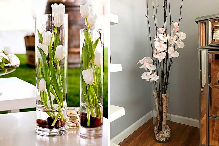 Ideas para decorar con flores artificiales esta for Plantas de interior artificiales