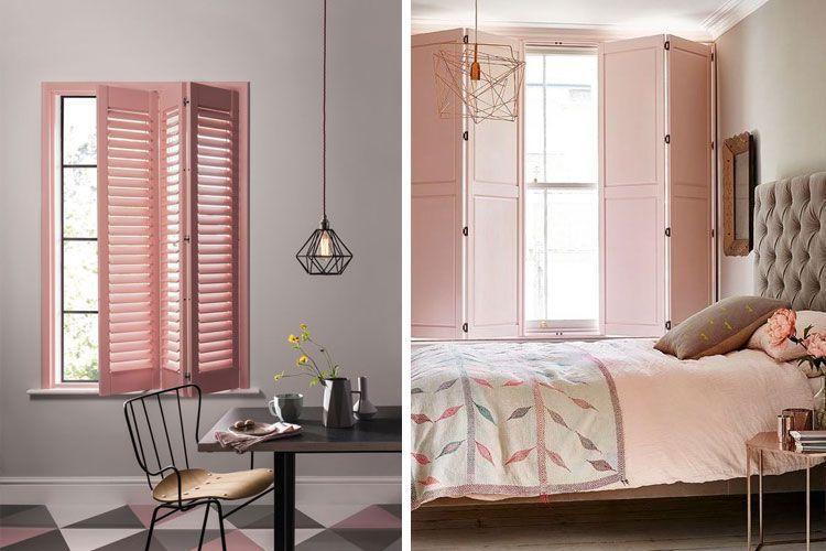 Puertas y ventanas en rosa palo