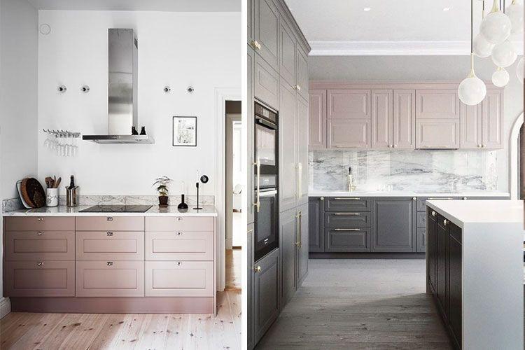Cocinas en rosa palo