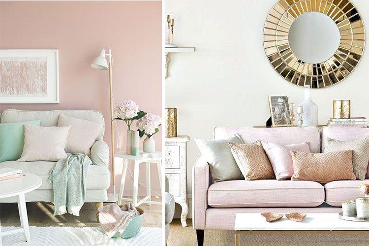 Interiores con estilo en rosa palo