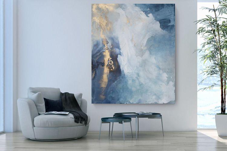 Cuadros abstractos azules