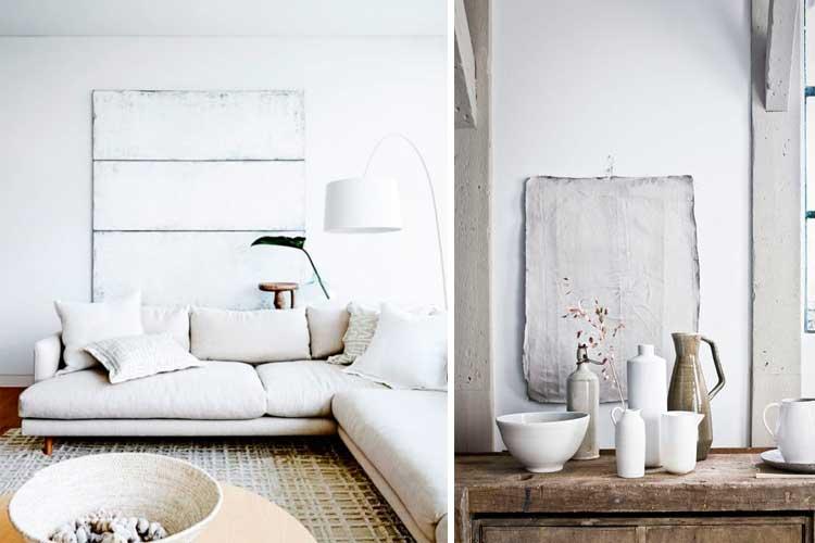 Cuadros abstractos blancos