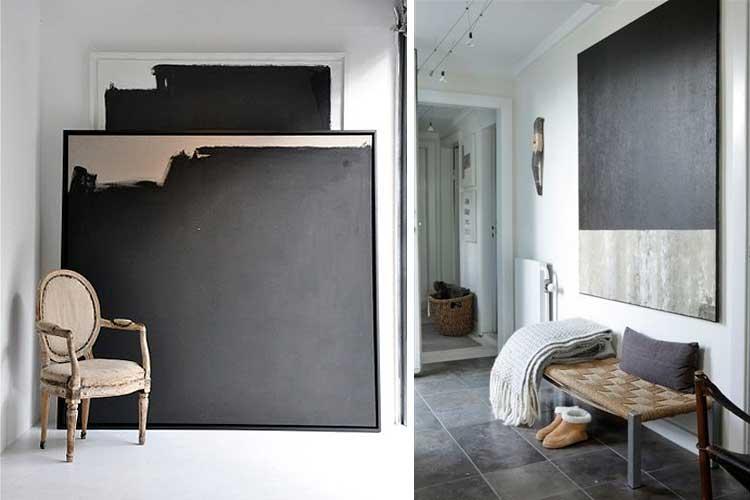 Cuadros abstractos en negro