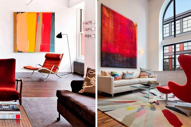 Cuadros abstractos de colores
