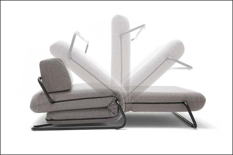 Sofá cama con apertura de pliegues