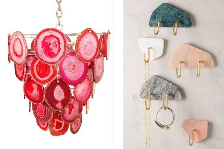 Cómo decorar con gemas y minerales