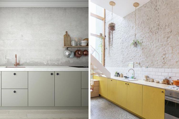 Cocinas sin muebles superiores