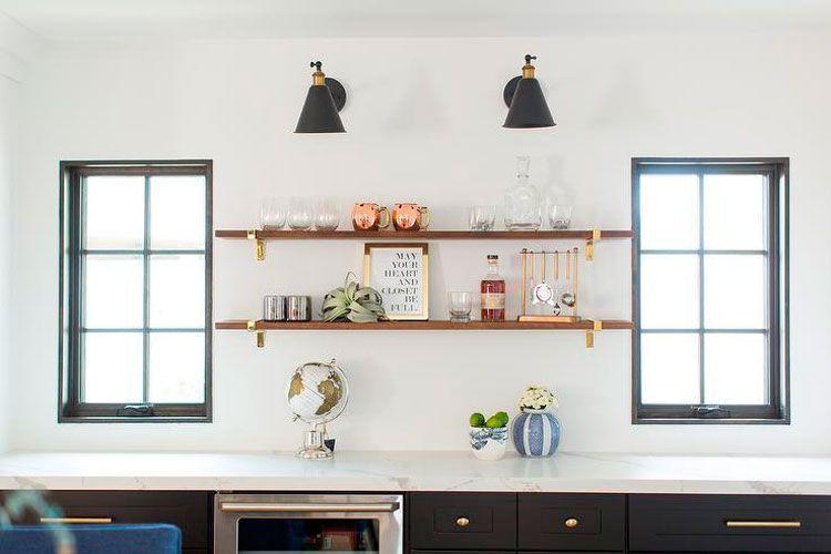 Cocina sin muebles altos