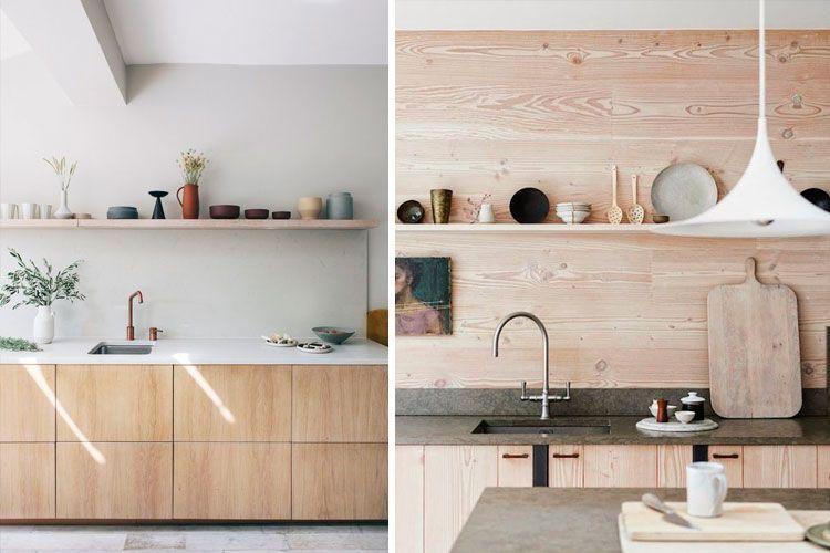 Cocinas sin muebles altos