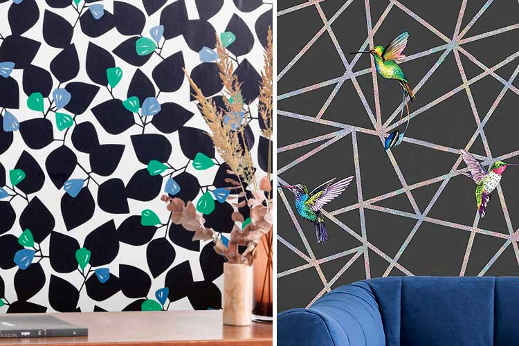 Ideas para decorar con papel pintado negro