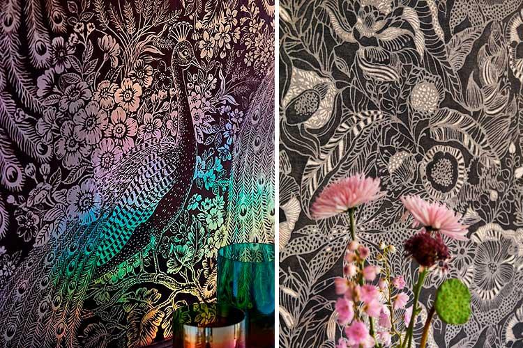Ideas para decorar con papel pintado negro