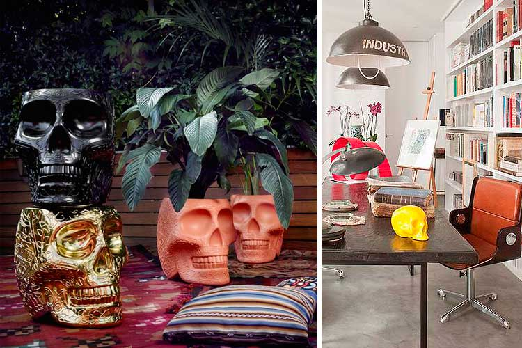 ideas para decorar con calaveras