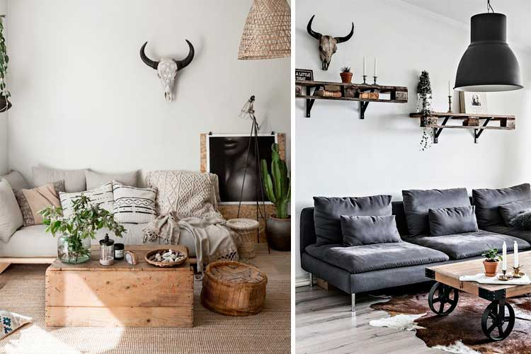 Ideas para decorar con cabezas de bisonte