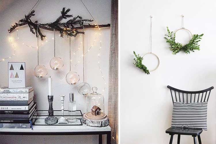 Complementos navideños minimalistas