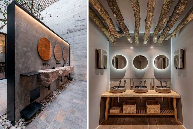 Baños de restaurantes - Decofilia